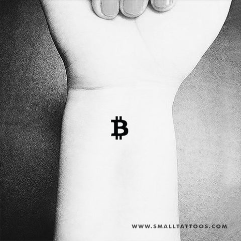 Bitcoin Symbol Temporary Tattoo (Set of 3)