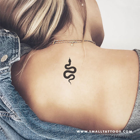Black Snake Temporary Tattoo (Set of 3)