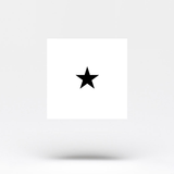 Small Black Star Temporary Tattoo (Set of 3)