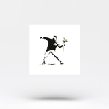 Banksy's Flower Thrower Temporary Tattoo (Set of 3)