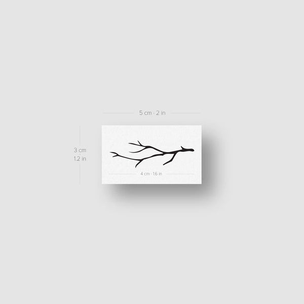 Leafless Branch Temporary Tattoo (Set of 3)