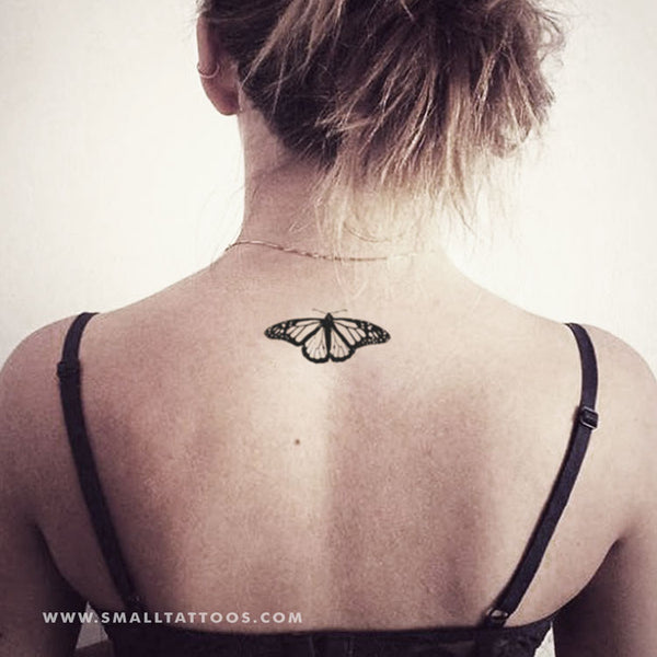 Common Tiger Butterfly Temporary Tattoo (Set of 3)