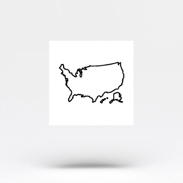 United States Map Temporary Tattoo (Set of 3)