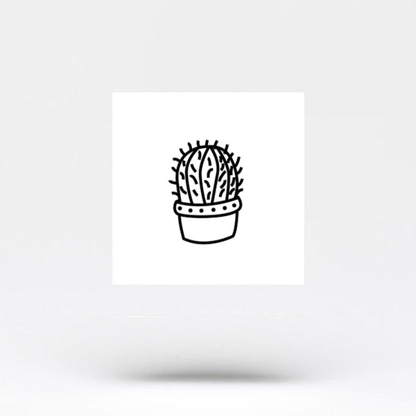 Barrel Cactus Temporary Tattoo (Set of 3)