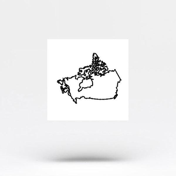 Canada Map Temporary Tattoo (Set of 3)