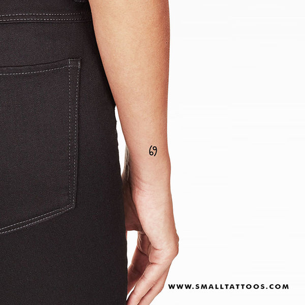 Cancer Zodiac Symbol Temporary Tattoo (Set of 3)