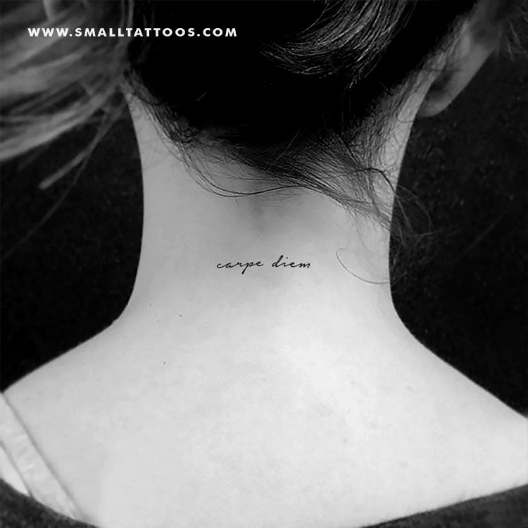 Carpe Diem Temporary Tattoo (Set of 3)