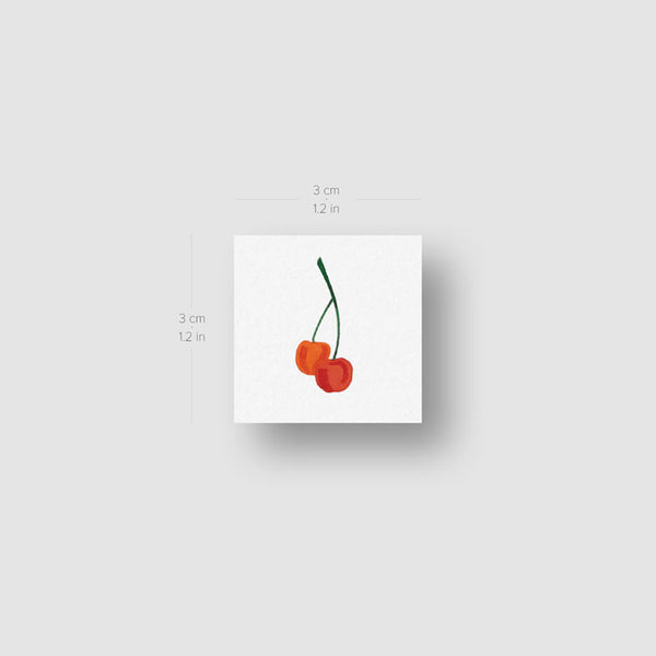 Cherries Temporary Tattoo by Zihee (Set of 3)