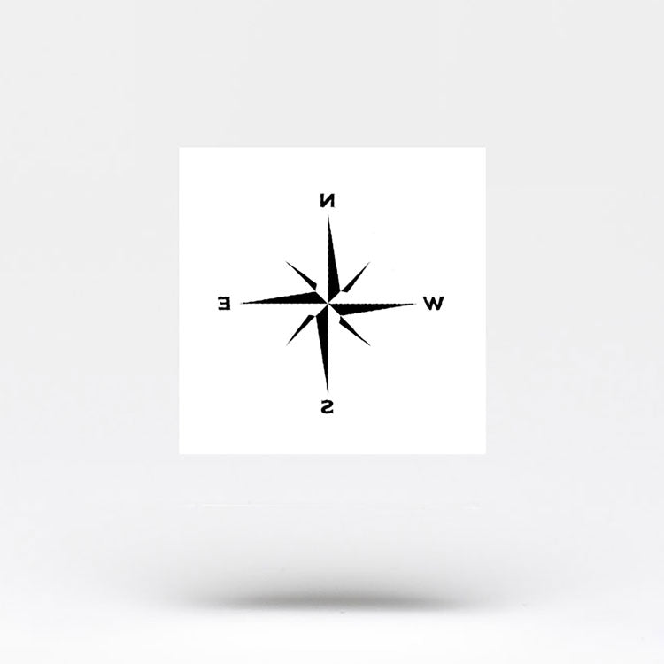 Minimalist Compass Rose Temporary