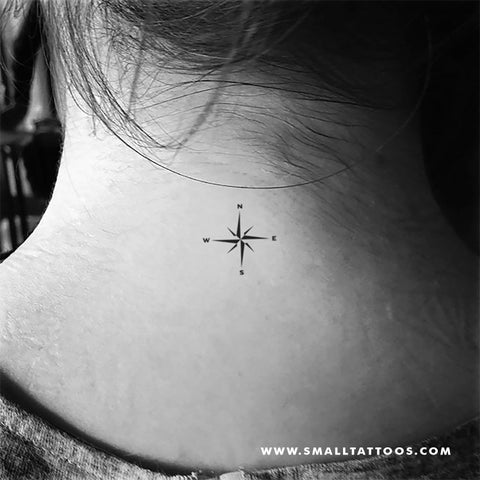 Small Compass Temporary Tattoo (Set of 3)