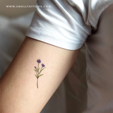 Cornflower Temporary Tattoo by Zihee (Set of 3)