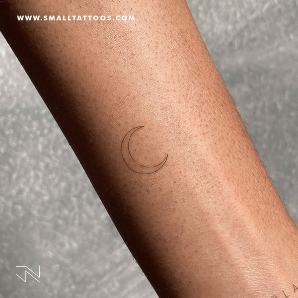 Crescent Moon Type II by Jakenowicz Temporary Tattoo - Set of 3