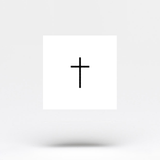 Minimalist Tiny Cross Temporary Tattoo (Set of 4)