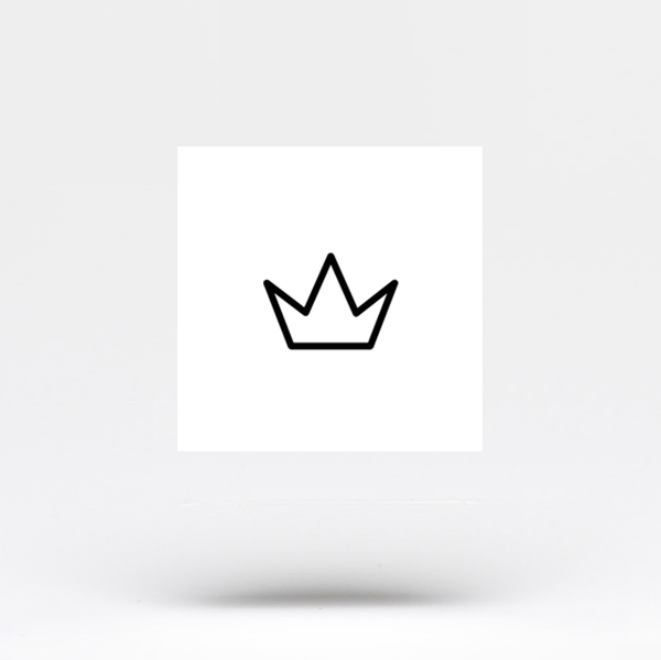 Small Crown Temporary Tattoo (Set of 3)