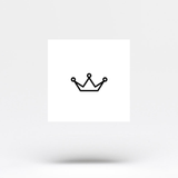 Minimalist Crown Temporary Tattoo Sticker