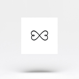Double Heart Infinity Symbol Temporary Tattoo (Set of 2)