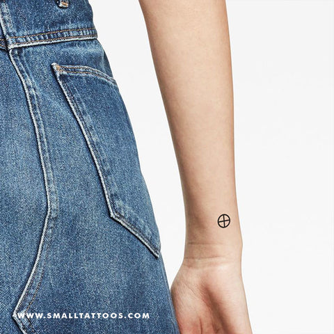 Earth Planet Symbol Temporary Tattoo (Set of 4)