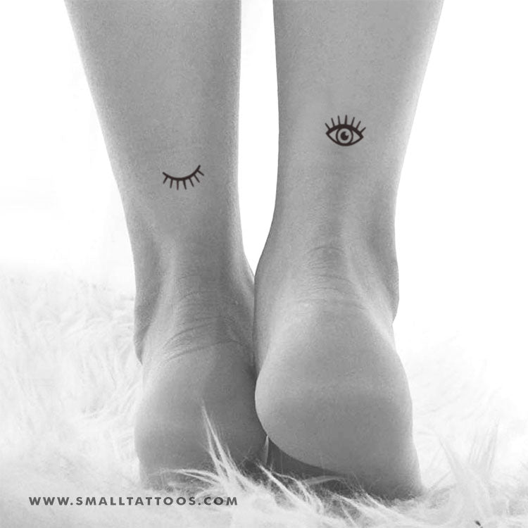 Small Eye Temporary Tattoo (Set of 2+2)