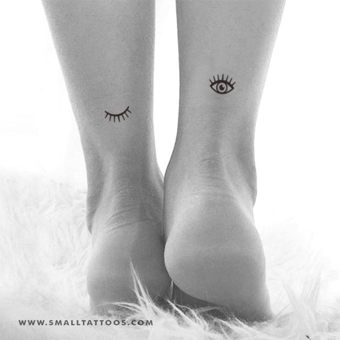 Eye and Eyelash Temporary Tattoo (Set of 2+2)