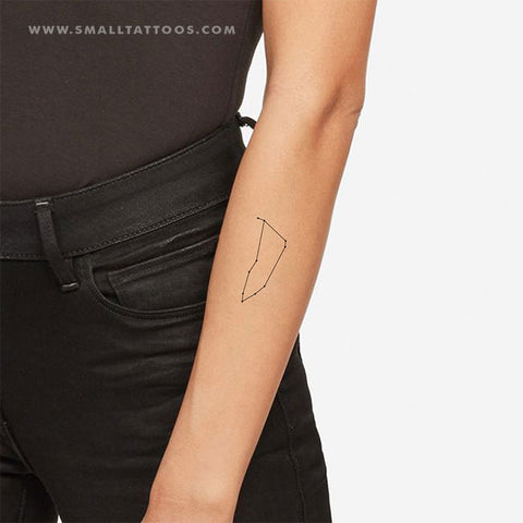 Capricornus Constellation Temporary Tattoo (Set of 2)