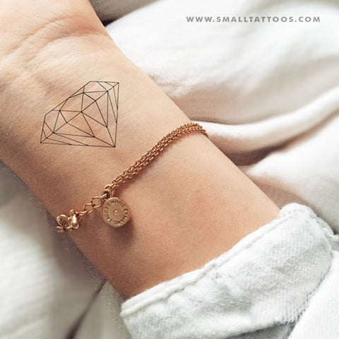 Fine Line Diamond Temporary Tattoo (Set of 2)