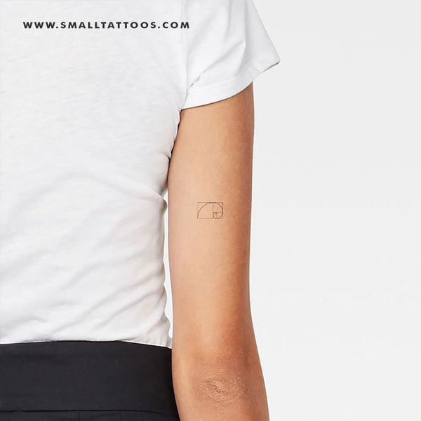 Small Golden Spiral Temporary Tattoo (Set of 3)