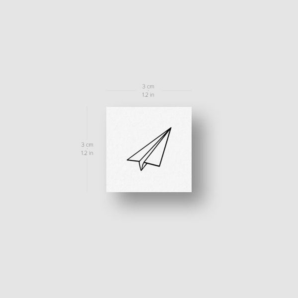 Paper Plane Temporary Tattoo (Set of 3)