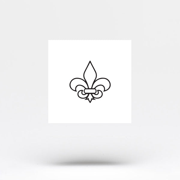 Fleur-de-lis Temporary Tattoo (Set of 3)