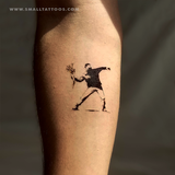 Banksy's Flower Thrower Temporary Tattoo (Set of 2)