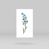 Forget-me-not Temporary Tattoo By Lena Fedchenko (Set of 3)