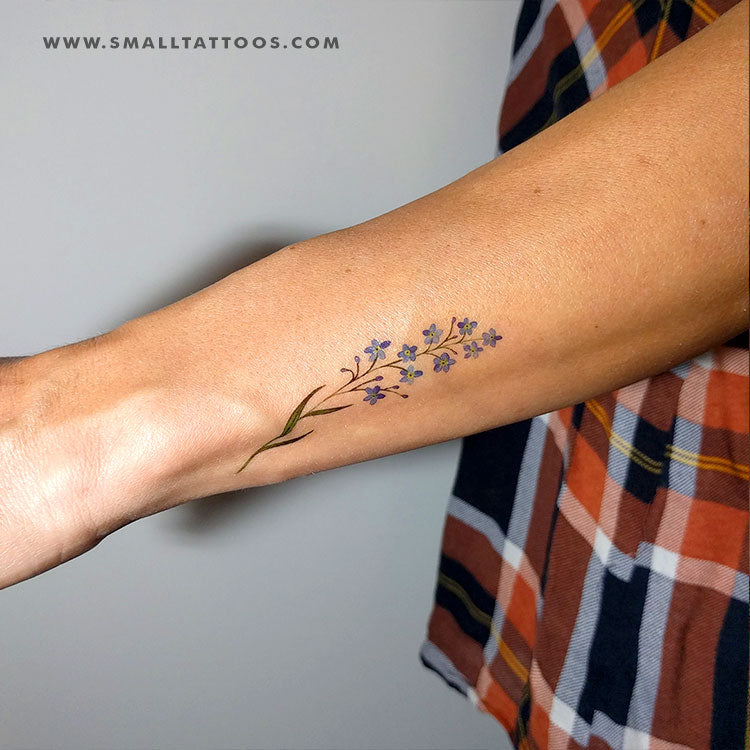 Forget-me-not Temporary Tattoo By Lena Fedchenko (Set of 3) – Small ...