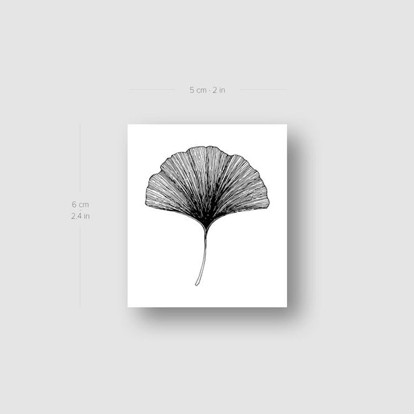 Ginkgo Leaf Temporary Tattoo (Set of 3)