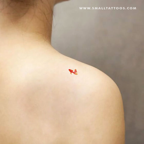 Goldfish Temporary Tattoo by Zihee (Set of 3)