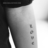 "Gothic ""Love"" Temporary Tattoo (Set of 3)"