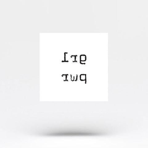 Minimalist GRL PWR Temporary Tattoo (Set of 3)