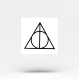 Deathly Hallows Temporary Tattoo (Set of 3)