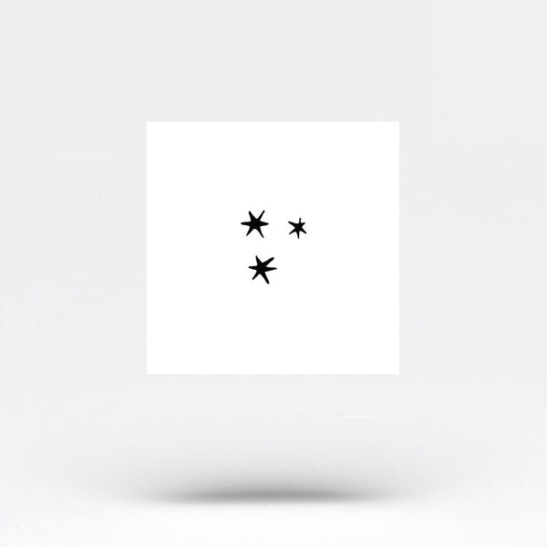 Small Three Stars Temporary Tattoo (Set of 3)