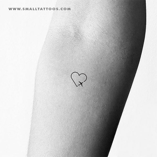Traveller Heart Temporary Tattoo (Set of 3)
