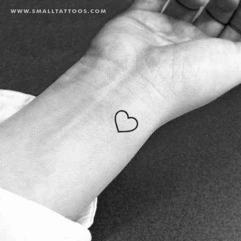 85a99b760 Small Heart Outline Temporary Tattoo (Set of 3) – Small Tattoos