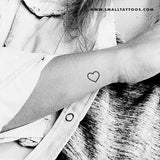 Small Heart Outline Temporary Tattoo (Set of 3)