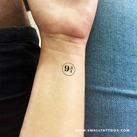 Platform Nine and Three-Quarters Temporary Tattoo (Set of 3)