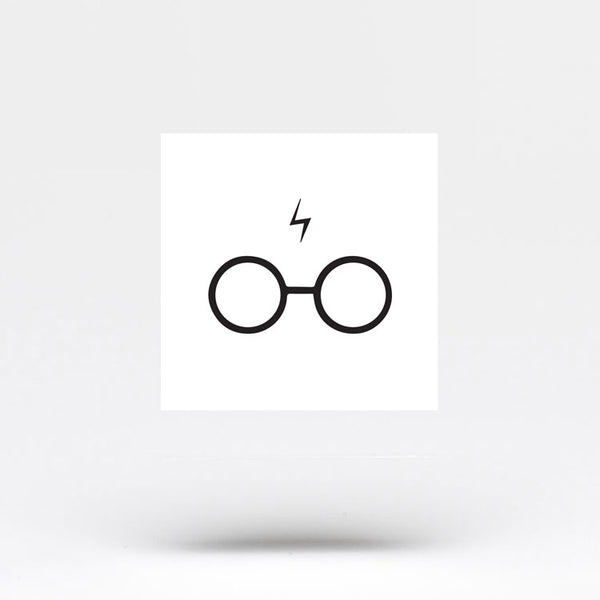 Harry's Glasses and Scar Temporary Tattoo (Set of 3)