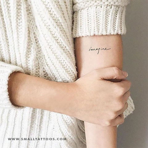'Imagine' Temporary Tattoo (Set of 3)