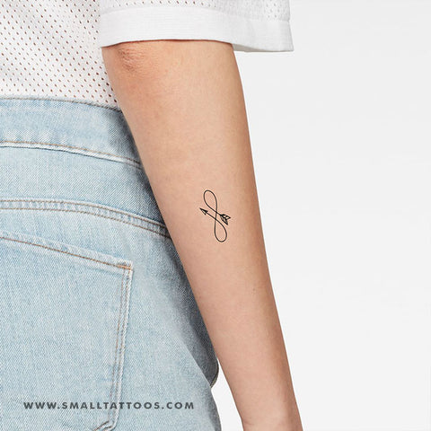 Infinity Arrow Temporary Tattoo (Set of 3)