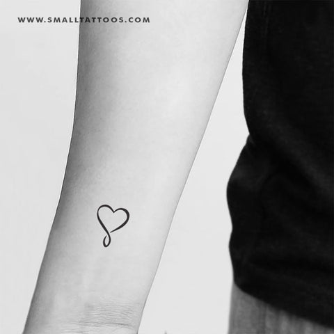 Infinity Heart Temporary Tattoo (Set of 3)