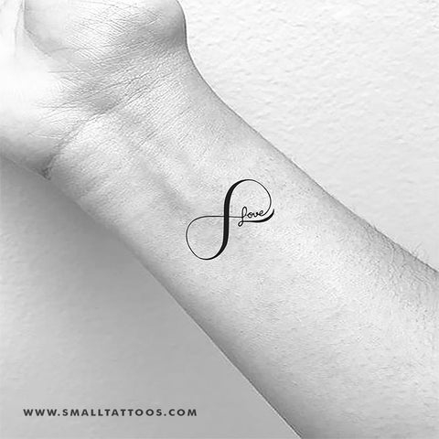 Love Infinity Symbol Temporary Tattoo (Set of 3)
