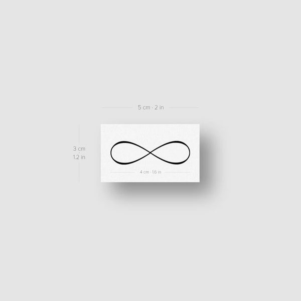 Infinity Symbol Temporary Tattoo (Set of 3)
