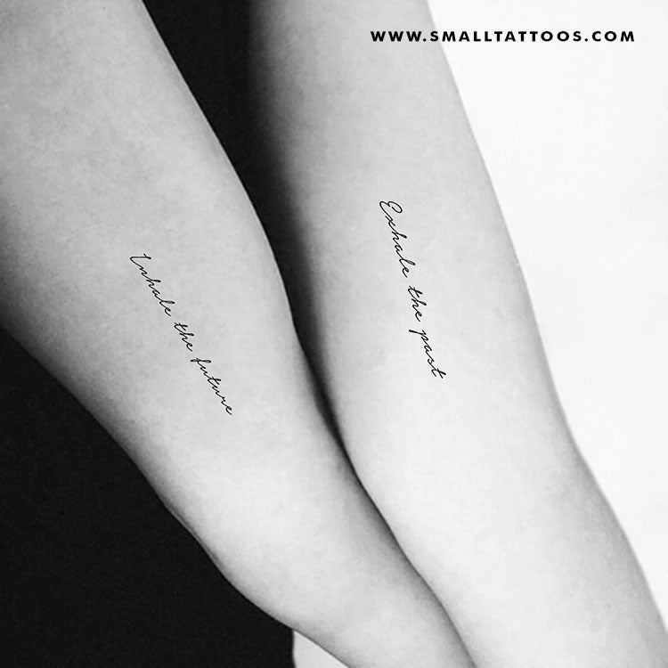 Inhale The Future Exhale The Past Temporary Tattoo (Set of 2+2)
