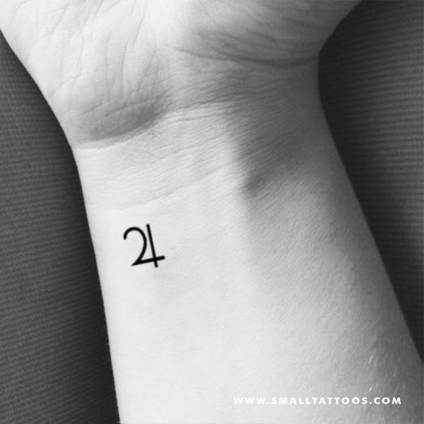 Jupiter Planetary Symbol Temporary Tattoo (Set of 3)