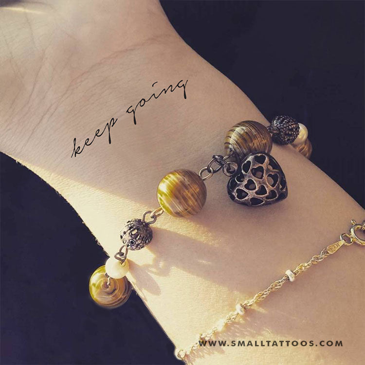 Keep Going Temporary Tattoo (Set of 3)